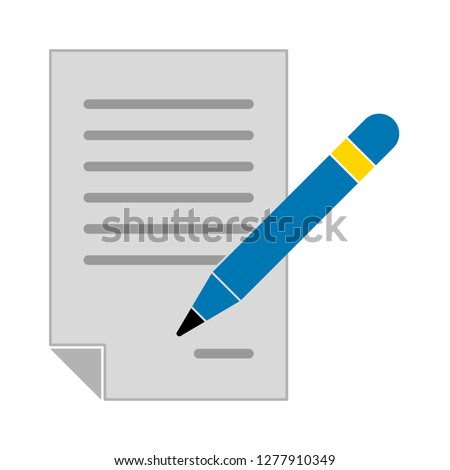 signing icon - signing contract isolated ,agreement signature illustration- Vector signature