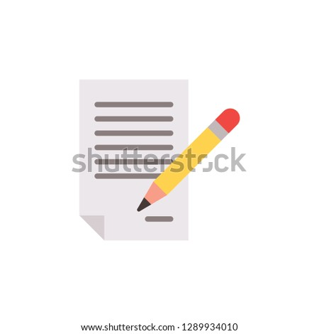 signing vector icon #1289934010
