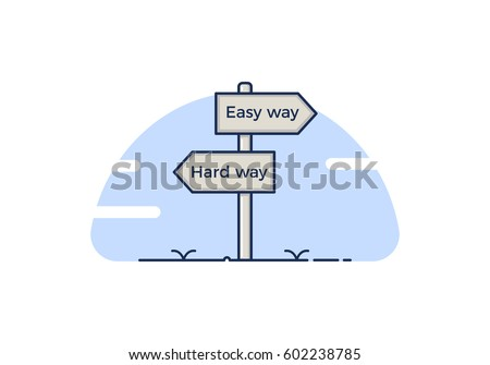 signpost concept with 2 path