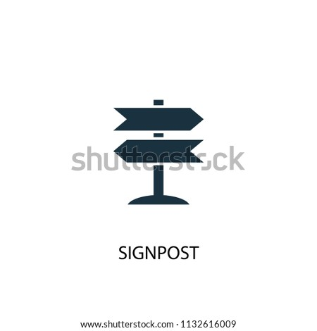 Signpost creative icon. Simple element illustration. Signpost concept symbol design from Camping collection. Can be used for web and mobile.