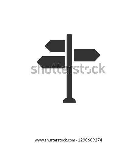 Signpost icon graphic design template vector isolated