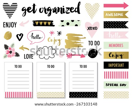 signs and symbols for organized