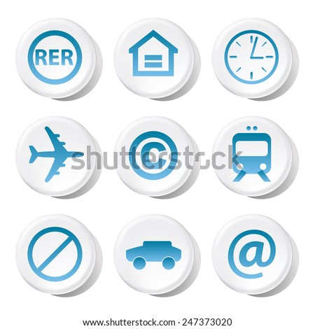 Signs and symbols icons set great for any use. Vector EPS10.
