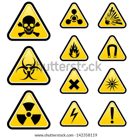 Signs of danger. Illustration on white background for design