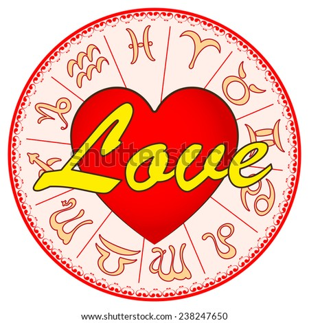 Signs Of Zodiac On Valentine S Day Horoscope For Love Vector