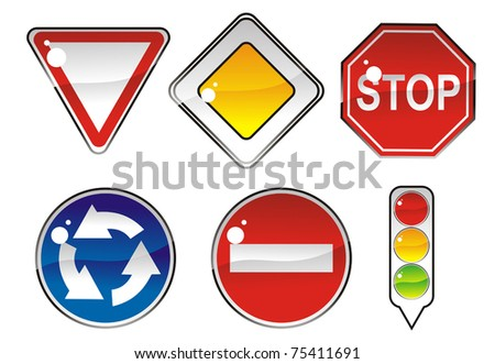 signs priority to regulate the order of roundabouts