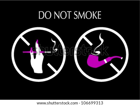 signs prohibiting smoking for hotels