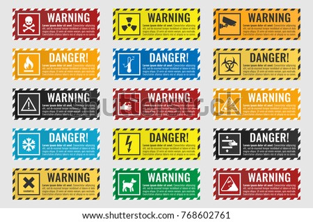 signs warning of the danger  ...