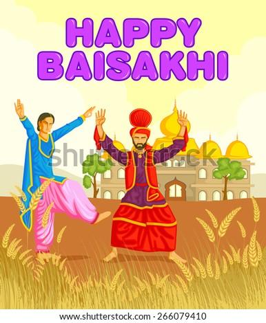 sikh doing bhangra  folk dance