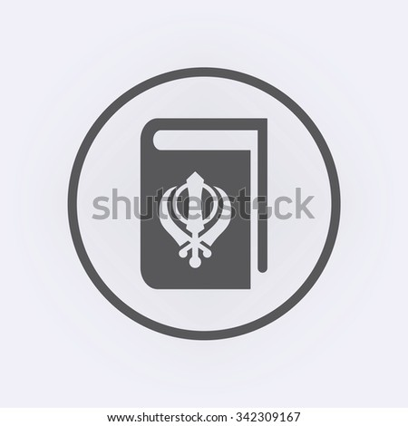 sikhism book icon in circle