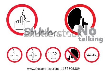 silence no speaking no talking