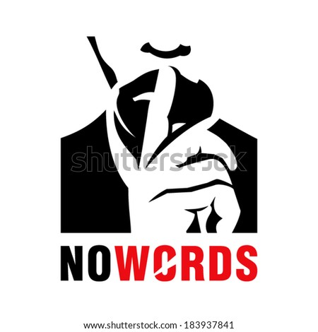 silence sign branding identity