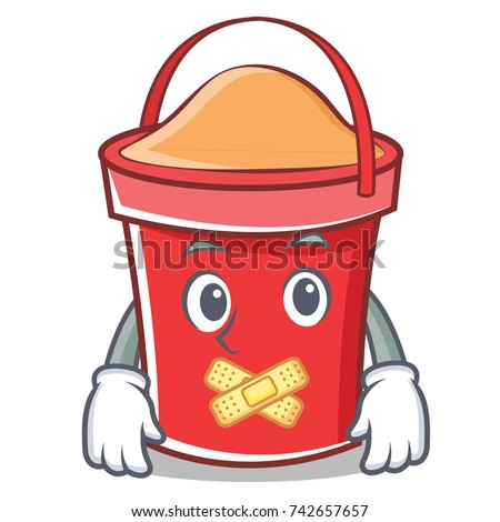 silent bucket character cartoon