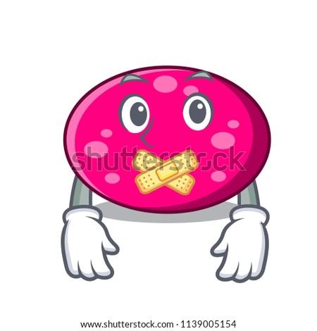 Silent ellipse mascot cartoon style