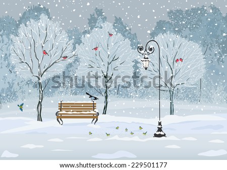 silent falling of snow in the