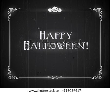 Silent movie ending screen - Happy Halloween - Scratches can be easily removed for a brand new look - Vector EPS10