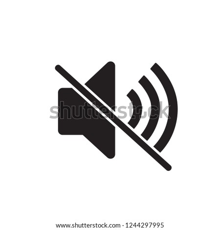 Silent no volume vector icon/ Sound Off Icon Vector Design Flat Style Symbol, Mute Button Speaker Isolated On light Background