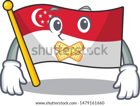 Silent singapore flags stored in cartoon cupboard
