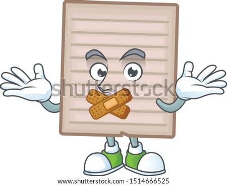 Silent vintage scrapbook paper cartoon character mascot
