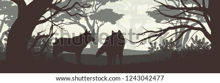 silhouette a pack of two