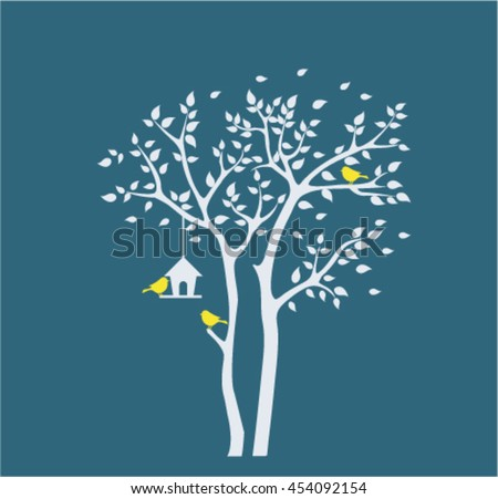 silhouette autumn tree with