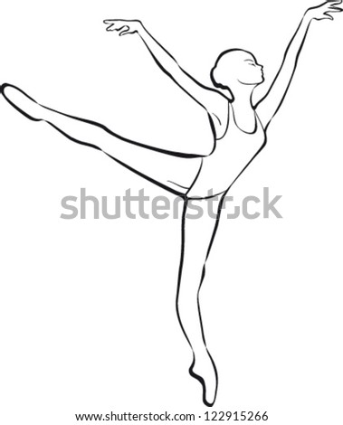 Silhouette ballet dancer