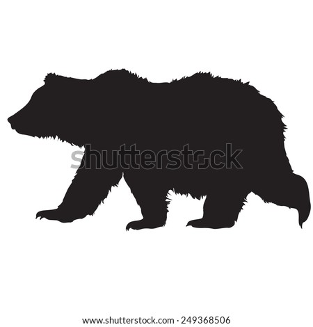 stock-vector-silhouette-bear-on-a-white-background-for-your-design
