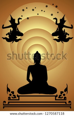 silhouette buddha siddhartha