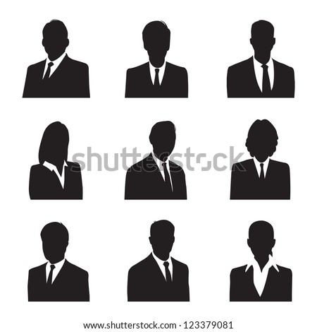 silhouette business #123379081