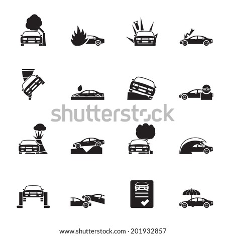 silhouette car and