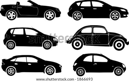 Stock Photo on Silhouette Cars  Vector Illustration   1866693   Shutterstock