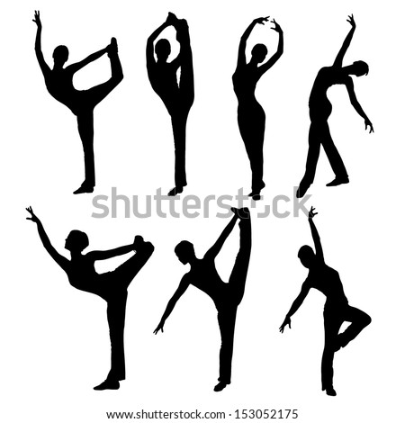 silhouette dance vector images