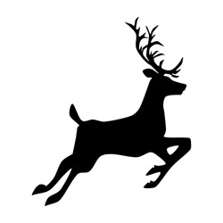 silhouette Deer. deer logo design template inspiration. vector illustration