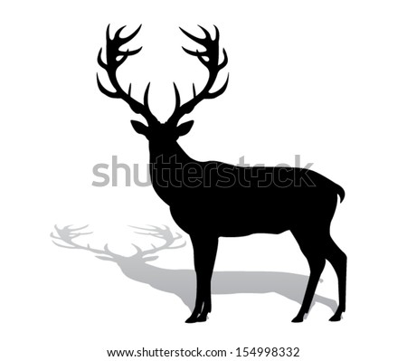 silhouette deer with great