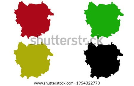 Silhouette design of Kayes city map in Mali with white background Stok fotoğraf ©