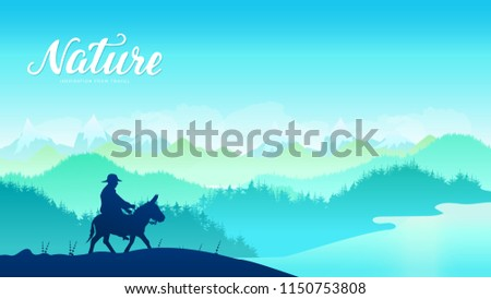 silhouette donkey rider on
