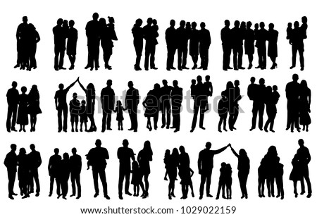 silhouette family, set