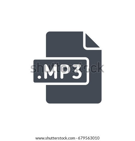 Silhouette file format icon mp3