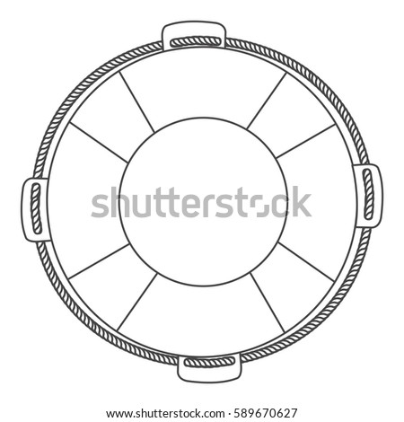 silhouette flotation hoop with