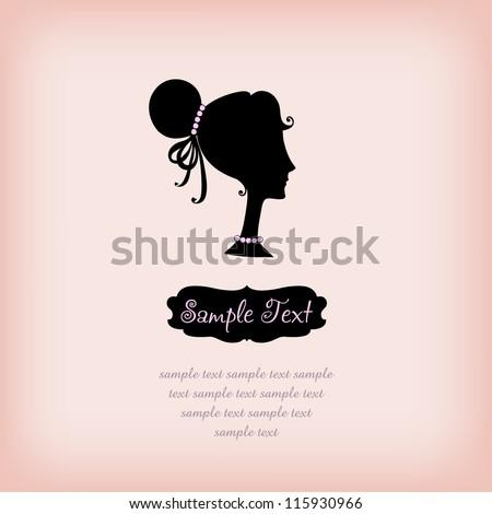 silhouette girl on rose...