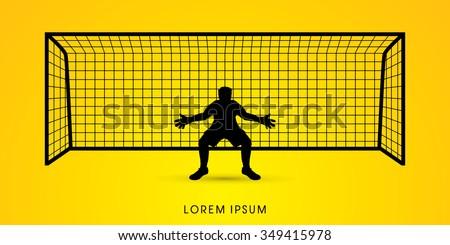 silhouette goalkeeper standing