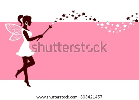 silhouette graceful fairies