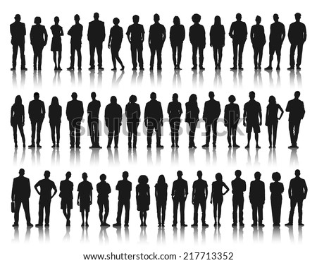 Silhouette Group of People Standing #217713352