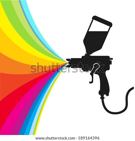 Spray Paint Silhouette Silhouette Gun Spray Paint
