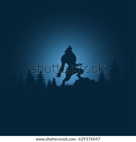 silhouette halloween night