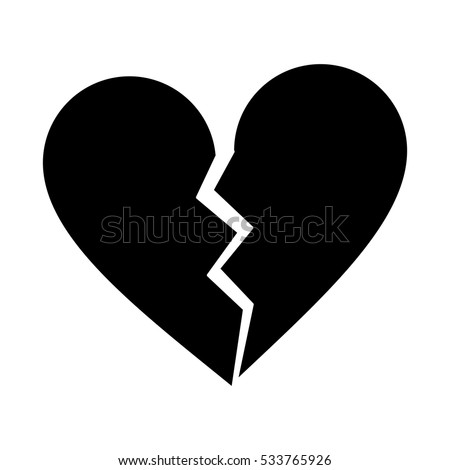silhouette heart broken sad separation