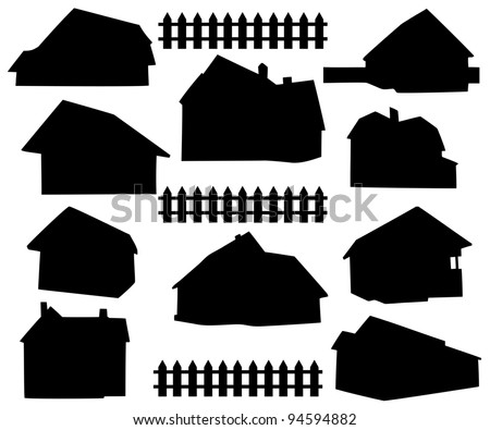 stock-vector-silhouette-house