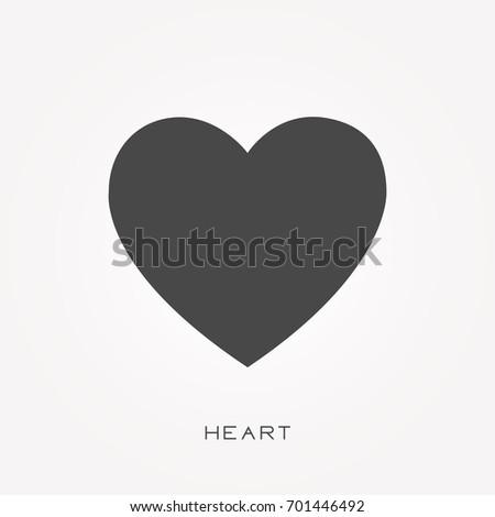 Silhouette icon heart