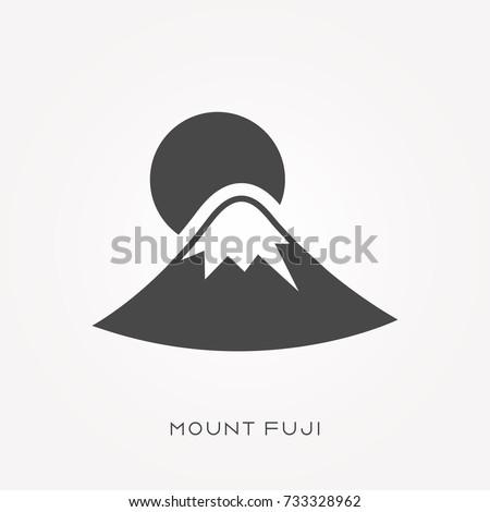 silhouette icon mount fuji