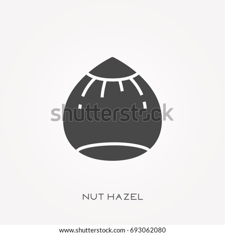 silhouette icon nut hazel
